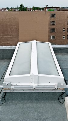 LAMILUX Flat Roof Exit Comfort Duo - Residental Building Chaussee Street, Berlin